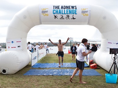 Adnews Challenge Inflatable Finish line Arch