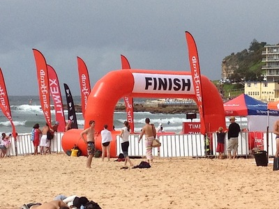 Beach Inflatable Finish Line