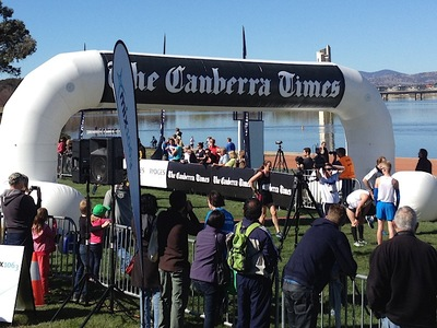 Canberra Times Running Festival Inflatable Finish line