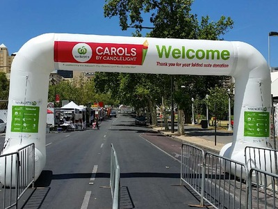 Carols by Candlelight Inflatable Entrance Arch