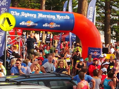 Inflatable Finish Arch Fun Run Manly