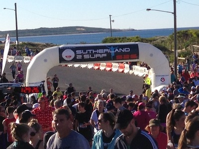 Sutherland to Surf Inflatable Arch