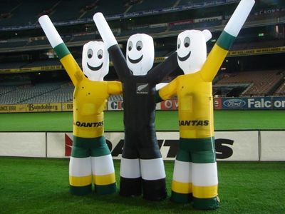 Wallaby and all blacks Eventmen inflatable Costume
